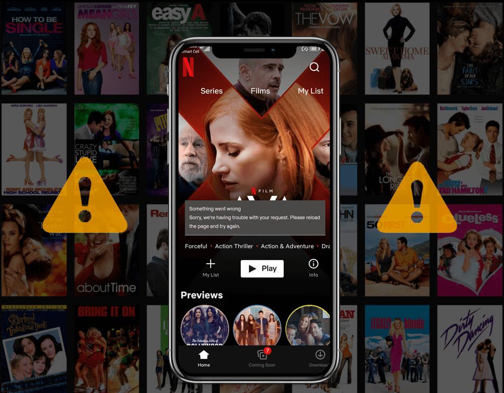 Netflix Error on iPhone