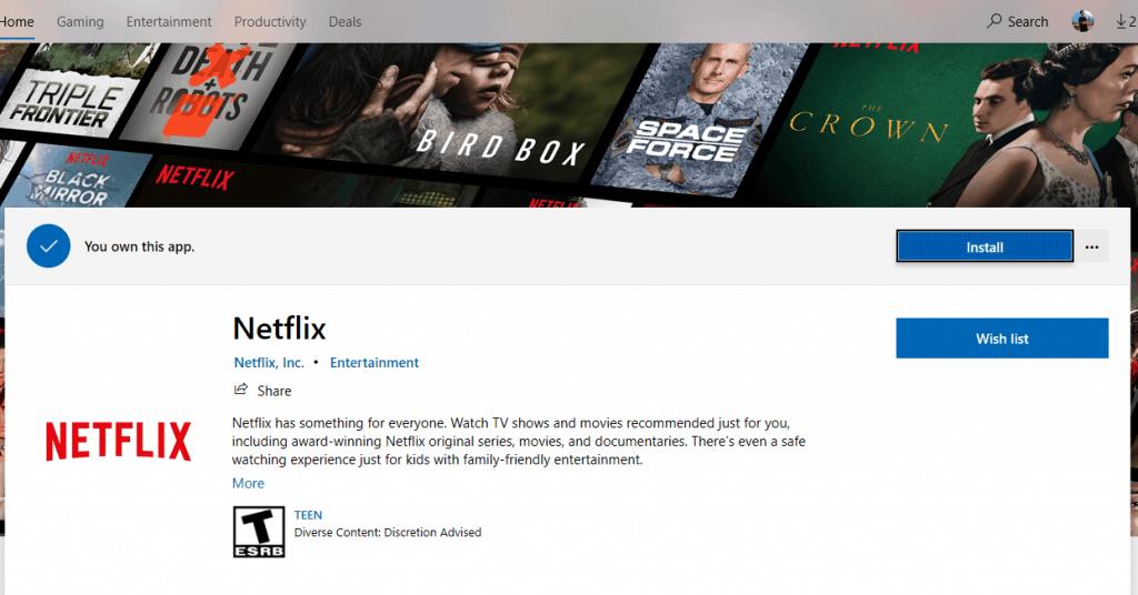 Install Netflix App